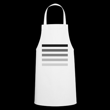 Stripes in shades of gray - Cooking Apron