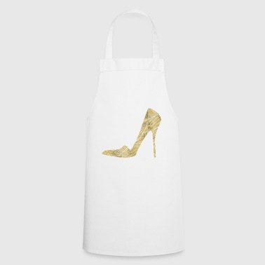 Golden High Heels / Pumps / Gift / Love Date - Cooking Apron