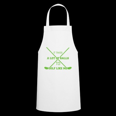 Golf Caddy Golf Course Putter Yardage Gift Tee - Cooking Apron