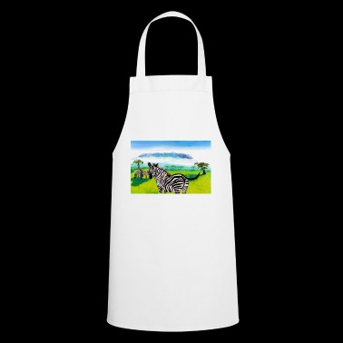 Zebras in front of Mount Kilimanjaro - Cooking Apron