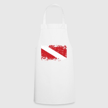 Diver Flag Worn - Cooking Apron