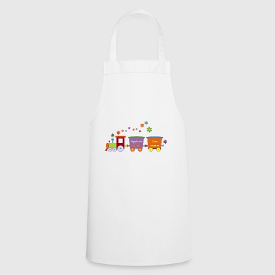 Train children's toy train Spring flowers colorful - Cooking Apron