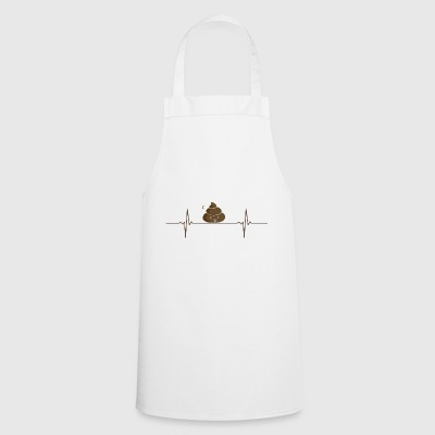 Gift shirt poop Heartbeat - Cooking Apron