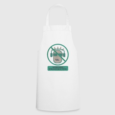 Blue moron prohibited - Cooking Apron