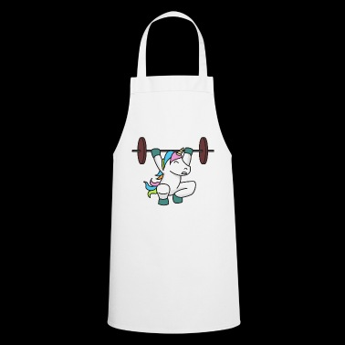 Unicorn Weightlifter Gift Gym Fitness Weight - Cooking Apron
