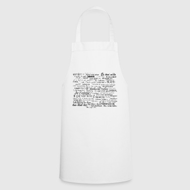 Love words - Cooking Apron