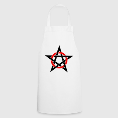 Pentagram Drudenfuß Witch Pagan Witch Esoteric - Delantal de cocina