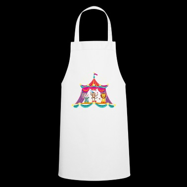 Circus - Monkey Circus - Circus Animals Hare Lion - Cooking Apron