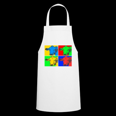 Cow, Pop Art, colorful, cool - Cooking Apron