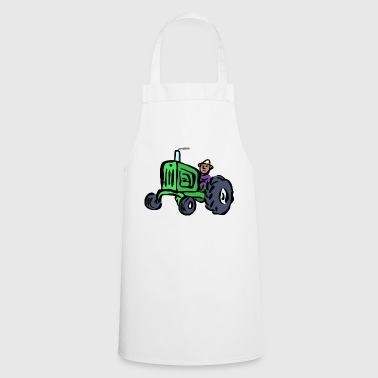Tractor Farmer T-Shirt Gift Idea - Cooking Apron