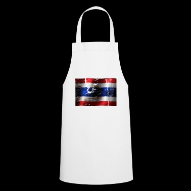 Thailand flag cool vintage used sport look - Cooking Apron