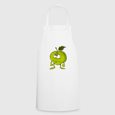 Apple with funny facial expression - Cooking Apron