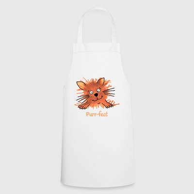 Purrfect Cute Cartoon Ginger Cat - Cooking Apron