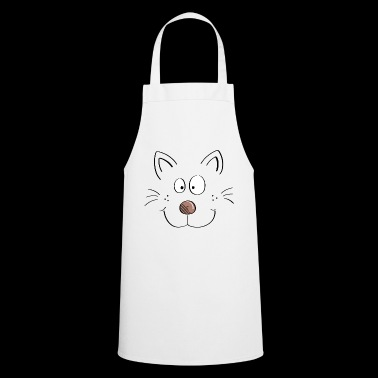 Funny cats face - cartoon cat - Cooking Apron