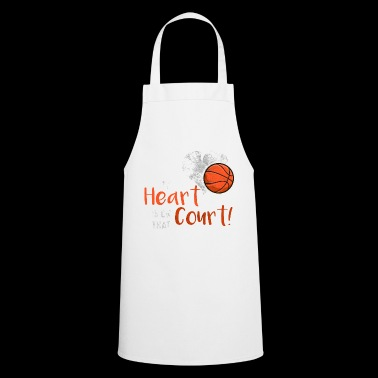 My Heart is on that Court! Basketball Scratch - Cooking Apron