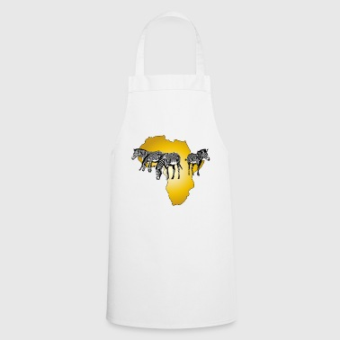 The Spirit of Africa - Zebras African Serengeti - Cooking Apron