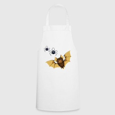 Bat with spiders - Cooking Apron