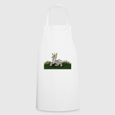 Unicorn grass meadow white horse - Cooking Apron