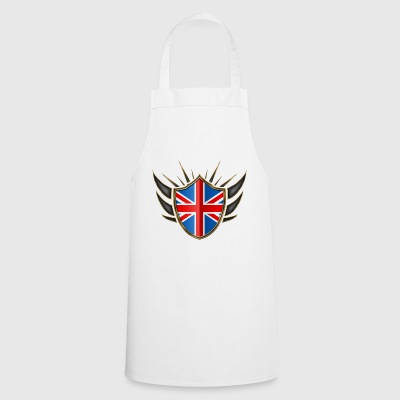 Great Britain Flag Coat of Arms Gold 014 - Cooking Apron