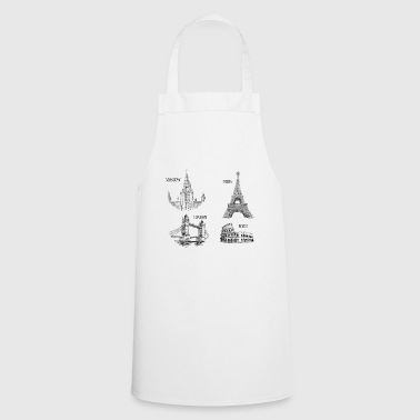 The 4 monuments of Europe - Cooking Apron