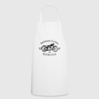Bavarian Classic Motorcycles - Black - Cooking Apron