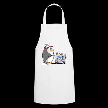 Penguin Ice Cream Vendeur - Ice Cream - Ice Cream - Fun - Tablier de cuisine