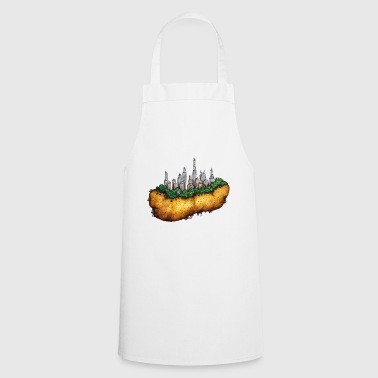 Kartoffelcity town on potato - Cooking Apron