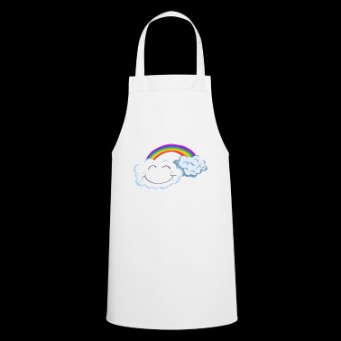 Lucky Day - Clouds With Rainbow - Comic - Cooking Apron
