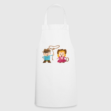 Cowboy with girl - Cooking Apron