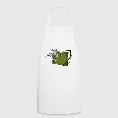 Book rat mouse rat comic eating gift - Cooking Apron
