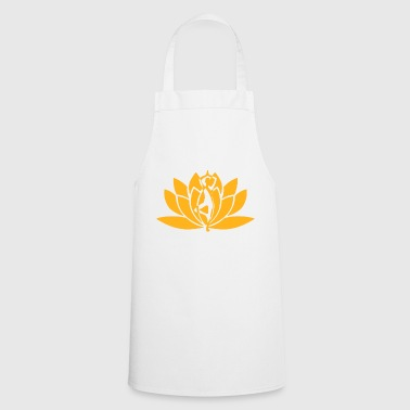 Yoga flower yellow - Cooking Apron