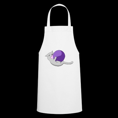 A cat with a wool ball - Cooking Apron