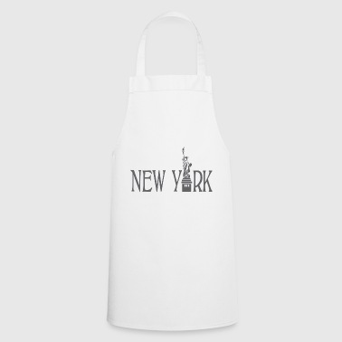 New York lettering statue of liberty gift idea - Cooking Apron