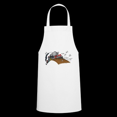 Red tractor with slurry tank - Cooking Apron