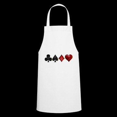 Cross pik check heart - Cooking Apron