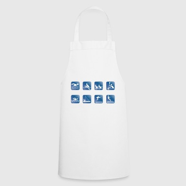 water skiing water skiing - Cooking Apron