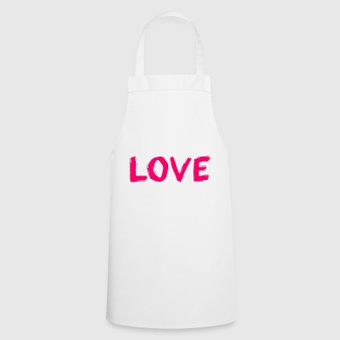 The word love - Cooking Apron