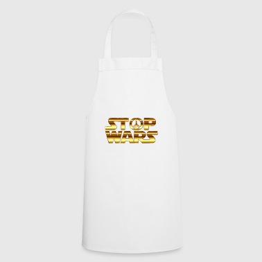 Stop wars funny hippie movie star - Cooking Apron