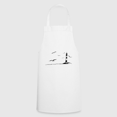 North Sea Lighthouse Seagull Idylle Holiday Gift - Cooking Apron