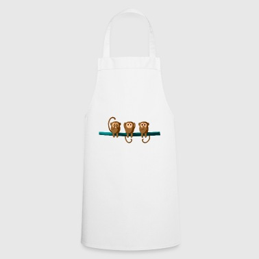 Do not see, do not hear, do not talk - Cooking Apron