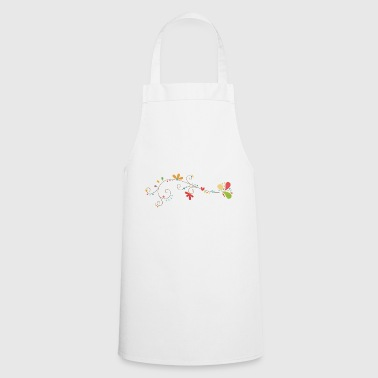 Flower decoration - Cooking Apron