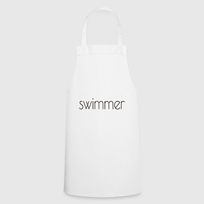 swimmer text - Cooking Apron