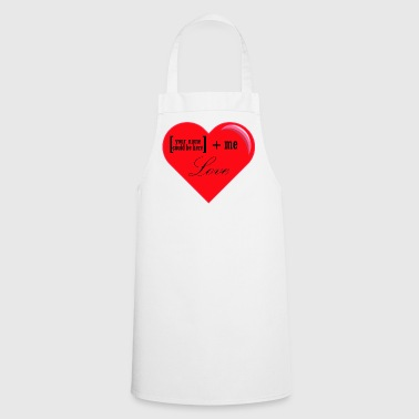 You + Me = Love - Cooking Apron