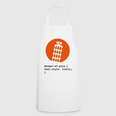 CSS pun: The Tower of Pisa - Cooking Apron