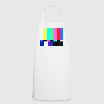Test Card.Test Pattern. Retro Television Crew.SALE - Cooking Apron