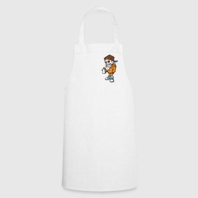 Graffitis Skeleton Hipster. Graffiti Art Slogan. - Cooking Apron