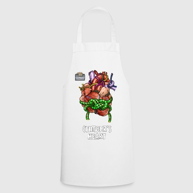 Cool climbing motive - Climber's heart. - Cooking Apron