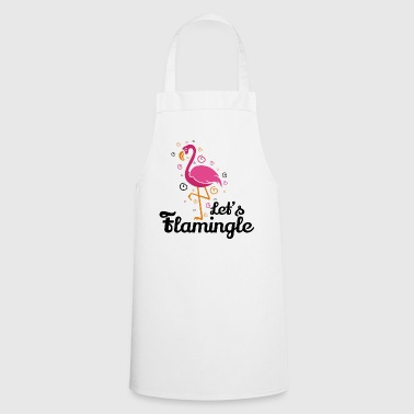 Let's flamingle Funny Flamingo T-Shirt Gift - Cooking Apron