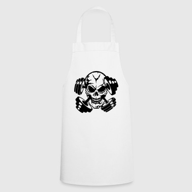 skull dumbbell bodybuilding 9 - Cooking Apron