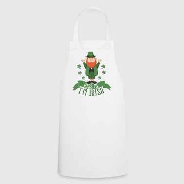 St. Patrick's Day Leprechaun - I'm Irish - kiss me - Cooking Apron